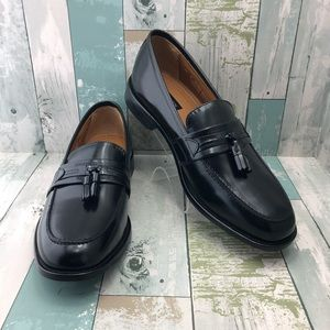 Bostonian Black Leather Tassel Loafers Mens 12